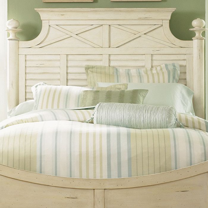 love the look of this bed bring country chic style to your guest room or master suite with this charming headboard showcasing louvered panels and a bisque - Louvered Bedroom Decor