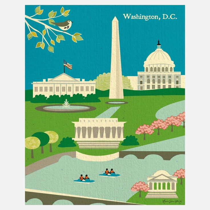 Fab.com | Washington DC Print  My family, being the way we are, did DC in one day. That's right, we saw it all in one day. hahaha
