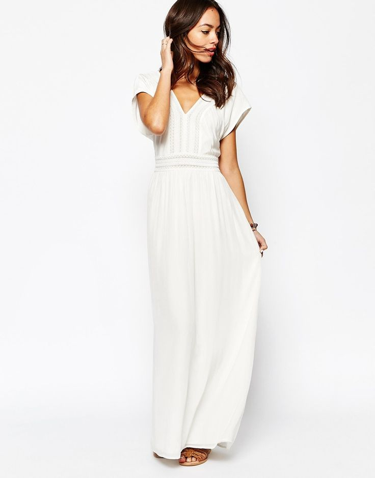 robe longue blanche boheme pas cher wedding dress pinterest tendances de mariage mariages. Black Bedroom Furniture Sets. Home Design Ideas