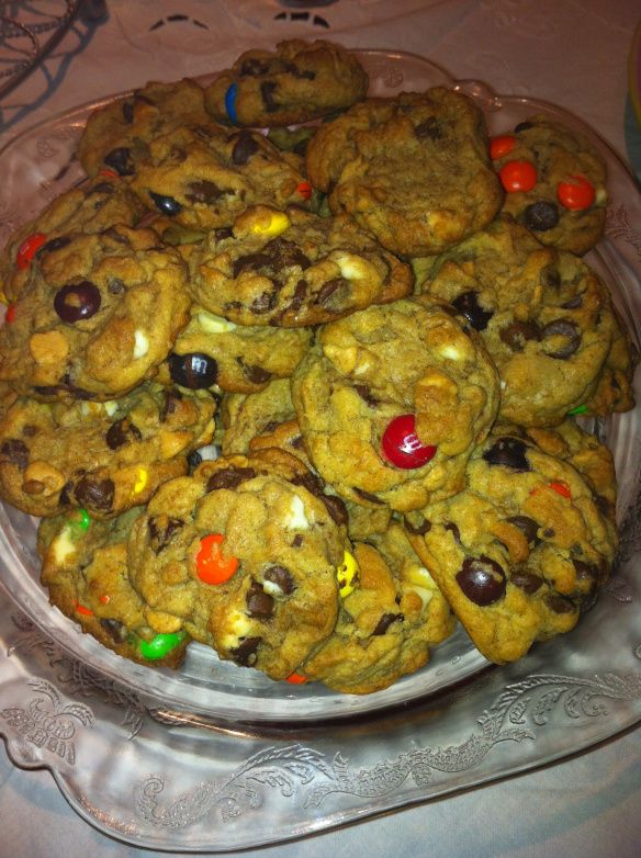 "Boyfriend Cookies. Loaded with ""stuff"" and perfect for the next time my nephew visits!"