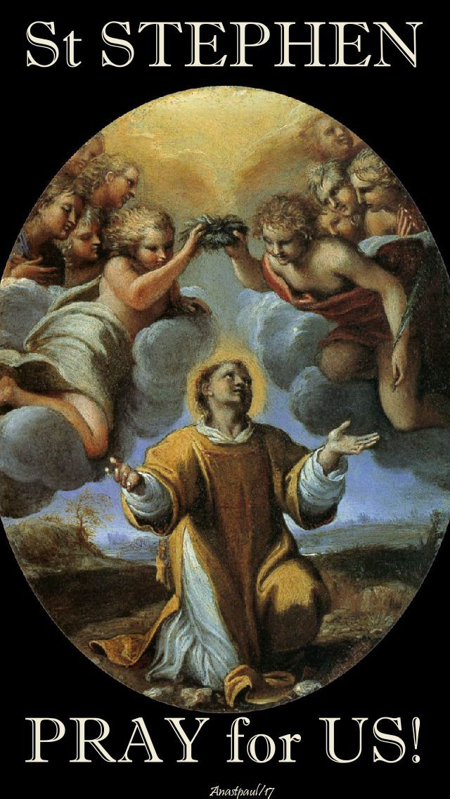 """""""Today the Church remembers the witness of Saint Stephen, the first of the Church's martyrs...When the Church remembers its martyrs, like St. Stephen...it is to keep us honest--not only about the past but also about the present. It has never been easy to be a Christan...If lived authentically, it is lived in defiance against the fallen powers of the world....""""~ AnaStpaul"""