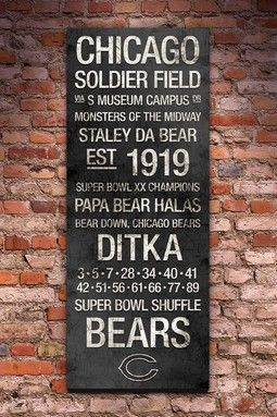 Chicago Bears Wall Art best 25+ chicago bears man cave ideas on pinterest | chicago bears