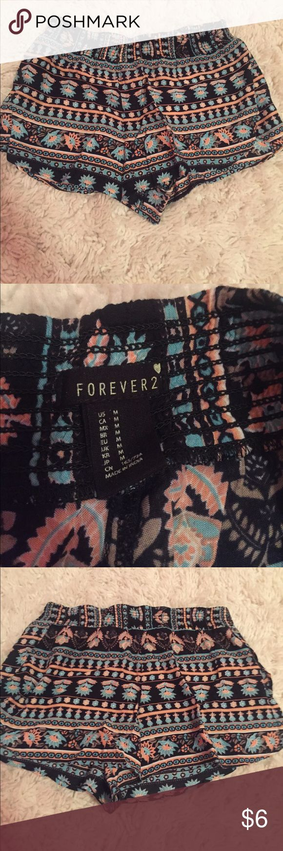 Forever 21 Flowy Aztec print shorts These shorts are a size medium and have never been worn. Thank you for checking out my closet! 💓 Forever 21 Shorts