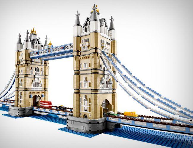 Lego - Tower Bridge - 10214. 4287 pieces. $299.99. Love the double decker bus. Raise and lower the drawbridge.