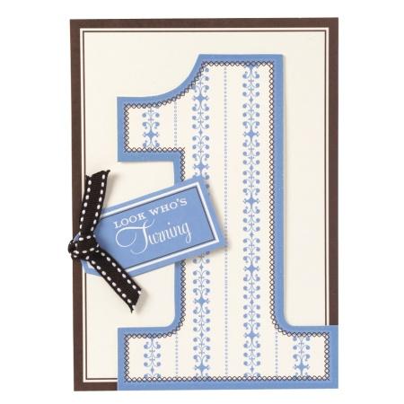 Boy Turning One Diecut Invitation - 1st Birthday - Baby - Invitations