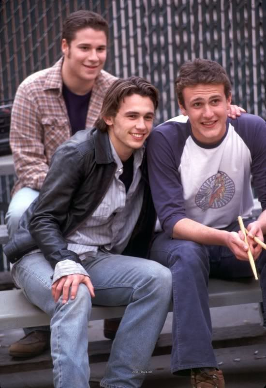 Okay, so you're in high school again, which one would you date?  I would totally date Nick (Jason Segel) while secretly crushing on Daniel (James Franco) eventually get dumped for whatever reason and end up with Ken (Seth Rogan) for the rest of high school    Seth Rogen, James Franco, Jason Segel (Freaks and Geeks)