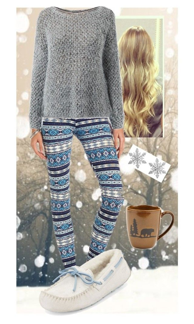 Snow Day! by chrissymusicfashion on Polyvore featuring moda, Cameo Rose, Charlotte Russe, UGG Australia and Van Cleef & Arpels