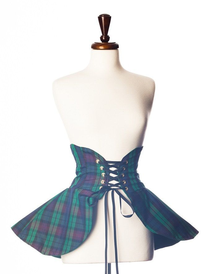 Take control of your own fate with this Celtic inspired cincher! You'll be tossing haggis, shooting arrows, riding horses...! Or not. Because ladies don't do that sort of thing (well, some do, but we'll let that be our little secret.) Regardless, we're sure you'll barely be able to contain your excitement with this spectacular piece. You'll definitely stand out amongst all the store bought/off the rack costumes this Halloween with this glorious hand made piece!  This cincher is made up of…