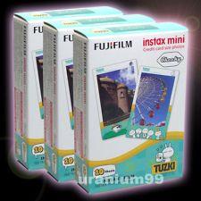 Papier instax mini 8 -Fuji FujiFilm Instax Mini TUZKI 30 Film Pour 7 7s 8 20 25 50s 50i Polaroid 300