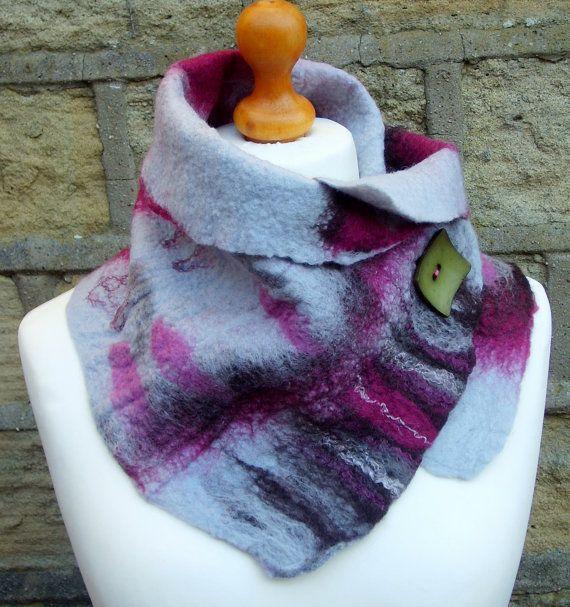 Felted scarf wool felted scarf felt scarf merino by Beautifulfelts, £26.00