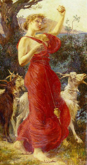 "Edith Corbet (1850 - 1920), ""The Goat Girl""."