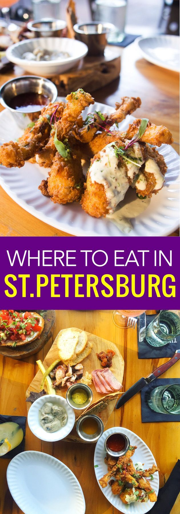 St.Petersburg is a city evolving into one of the best craft beer and food places in Florida. Here are our can't miss restaurants in St. Petersburg.