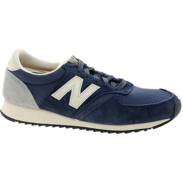 Entretener espada marco  New Balance 420 Navy Suede Trainers ($85) ❤ liked on Polyvore #Bags  #Clothes #Designer #Shoes #SSENSE #… in 2020 | Fashion athletic shoes,  Tennis shoes outfit, Outfit shoes