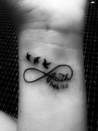 Love!: Tattoo Ideas, Wrist Tattoo, Infinity Signs, Infinity Tattoo, Little Birds, A Tattoo, Faith Tattoo, White Ink, Bible Ver