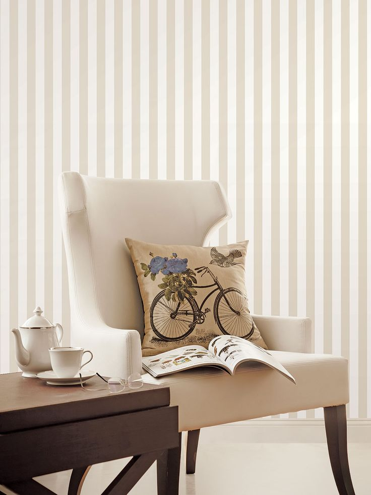 Simple stripe perfect for a little reading nook!