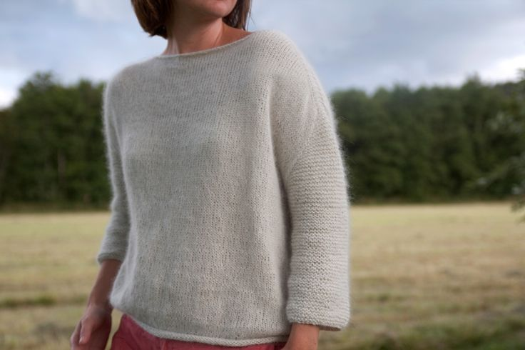 Mellow Sweater from Pickles. This is actually a top-down raglan sweater knit in one piece. Intriguing.