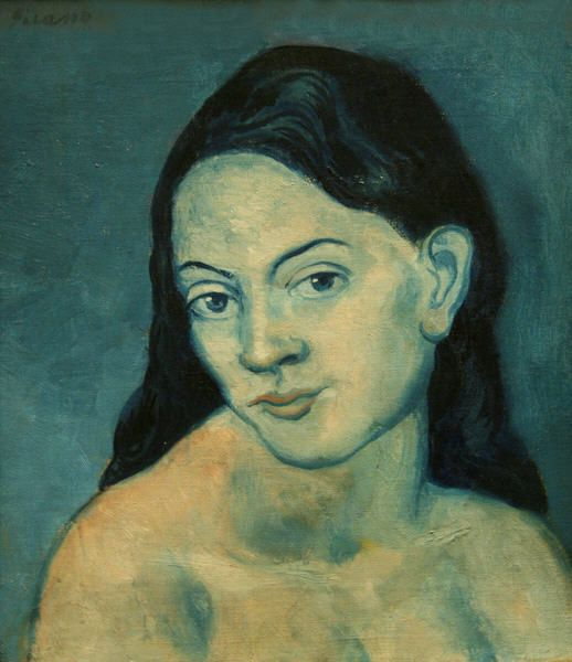"""artimportant: """"Pablo Picasso: head of a woman, 1903 (blue period) """""""