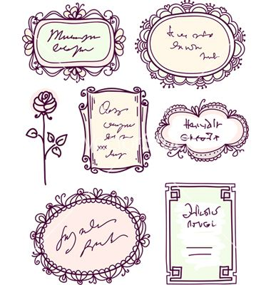 hand drawn vector frames and borders for a wedding invitation