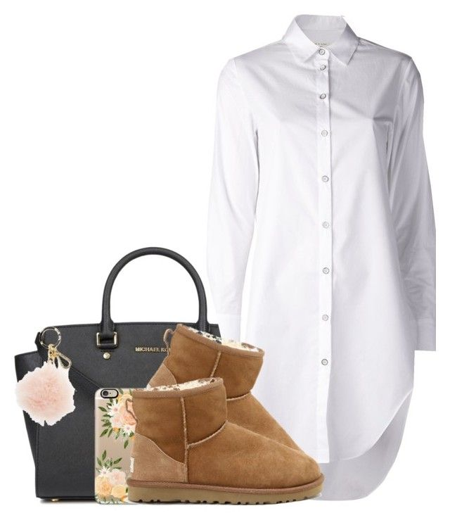 """white"" by simoneswagg ❤ liked on Polyvore featuring Michael Kors, rag & bone, UGG Australia, Casetify, MICHAEL Michael Kors, women's clothing, women, female, woman and misses"