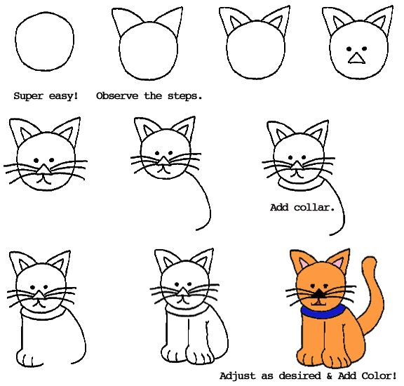 How to Draw a Cat...reminds me of the Ed Emberly books I used to do with the kids when I was a teacher@stefanie knodel.