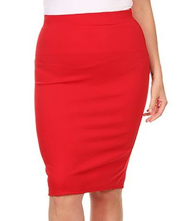 Red Pencil Skirt - Plus #zulily #zulilyfinds