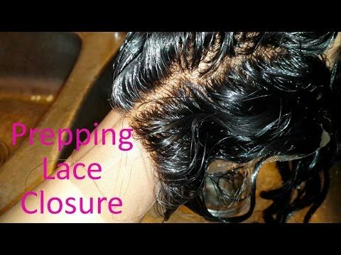 LACE CLOSURE PREP: Bleaching Knots & Tinting Lace - YouTube