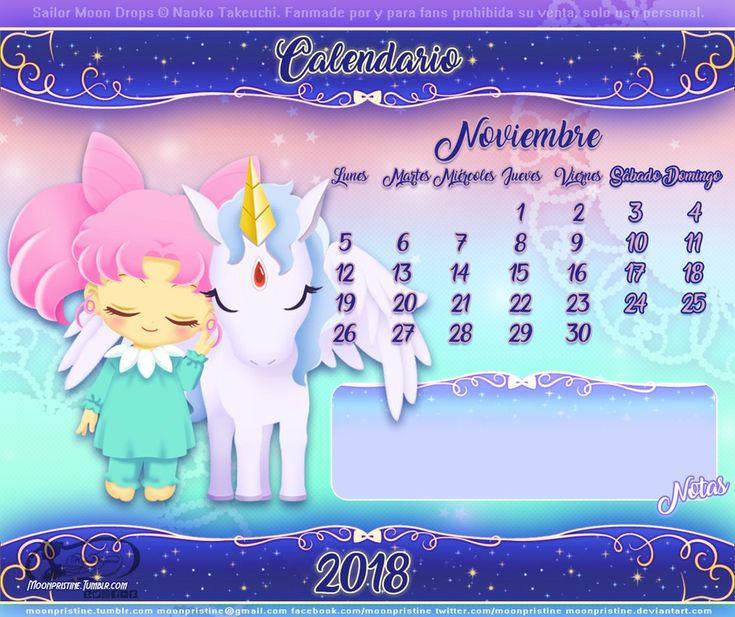 Sailor Moon Drops Calendario Noviembre by moonpristine