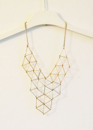 kolia h&m łańcuszek naszyjnik geometryczny cienki delikatny subtelny hm srebrny złoty