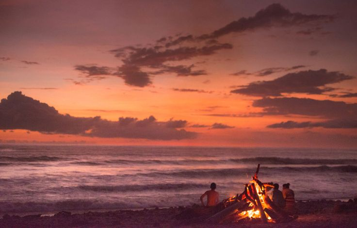Enjoy a beach bonfire on the best beaches in Costa Rica, Mal Pais, Santa Teresa & Playa Hermosa. Stay at Hotel Casa Chameleon for the best vacation ever!!!