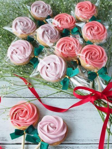 「薔薇の花束クッキー♡」上岡麻美 | お菓子・パンのレシピや作り方【corecle*コレクル】