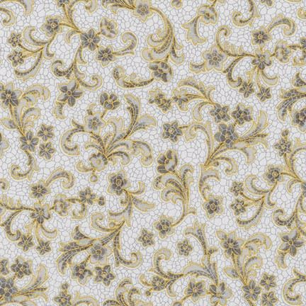 SRKM-17053-12 Villa Glazed Tile Floral on Grey With glimpses of fine Romana Villas this fabric range takes us back to a time when beautiful tiled and mosaic buildings were seen in the upper echelons of society. From Robert Kaufman Studios the glazed tile effects mixed with vintage floral bring history to life. We have selected beautiful mosaics with multiple colours, greys, creams and mauves to provide a great selection for you next quilting project. In the traditional Robert Kaufman style…