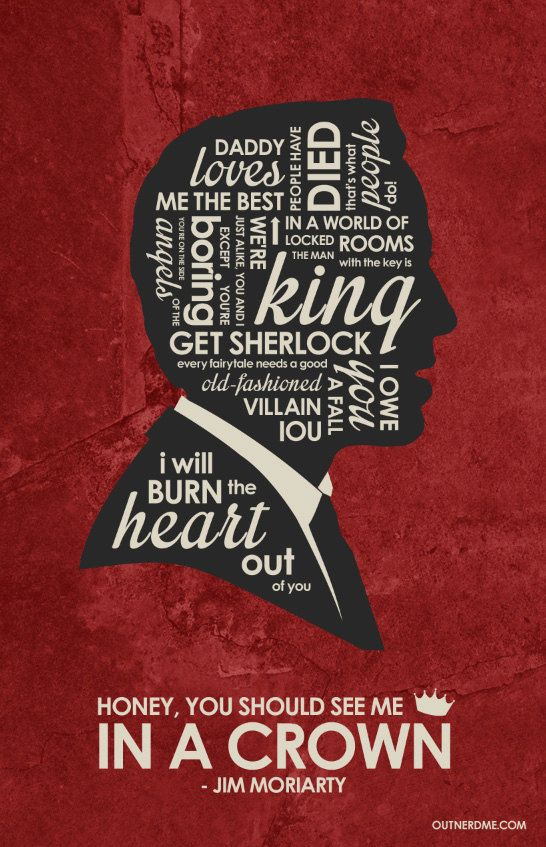 BBC Sherlock Jim Moriarty Inspired Quote Poster by OutNerdMe