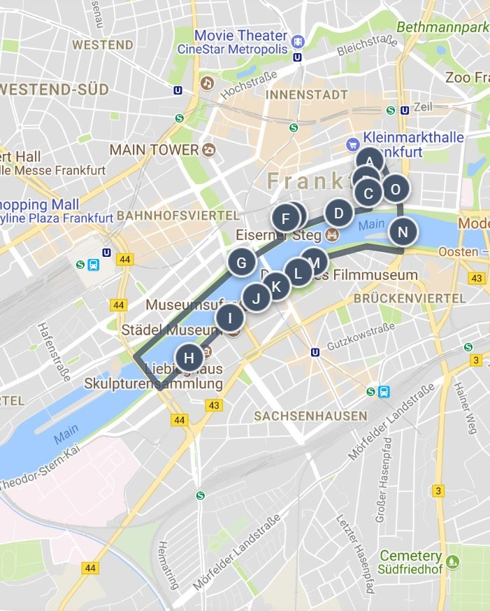 Frankfurt Germany Museum River Loop Sightseeing Guide Map ... on map of frankfurt germany on world map, map of munich germany area, map of area around frankfurt, map of germany showing frankfurt, map of hamburg germany area, map of heidelberg germany area, map frankfurt ger, map of germany and surrounding areas, map of amsterdam to frankfurt, map of stuttgart germany area, map of cologne germany area,