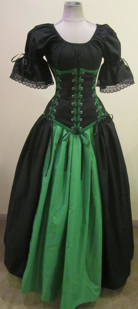 The Vixen - renaissance clothing medieval costume Love these colors