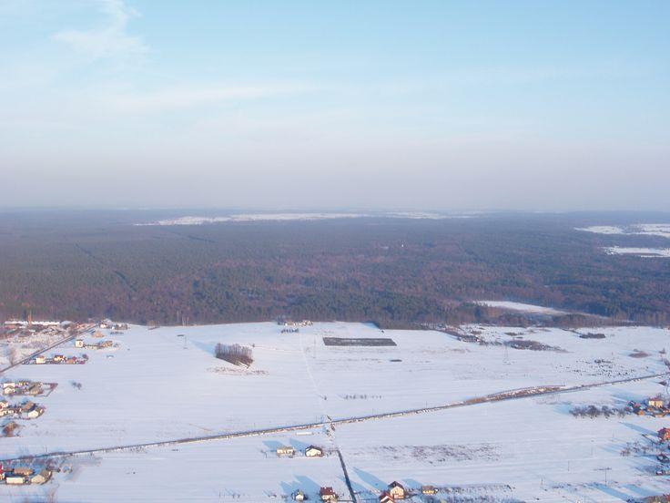 Widokowy lot motolotnią nad Rytwianami.
