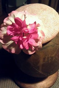 Completed work. Blush pick cocktail button with vintage flower detail. contact info@freidarome.com.au for details on custom orders
