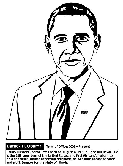 104 best images about history lessons on pinterest for Barack obama coloring page