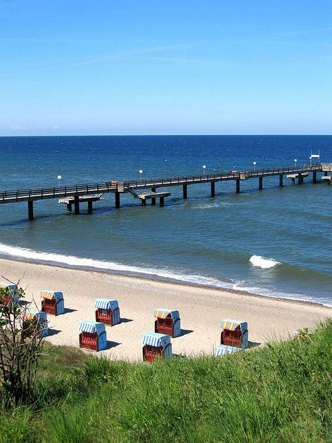 Baltic Sea, Rerik, Germany - Ostsee Seebrücke by fotogake, via Flickr