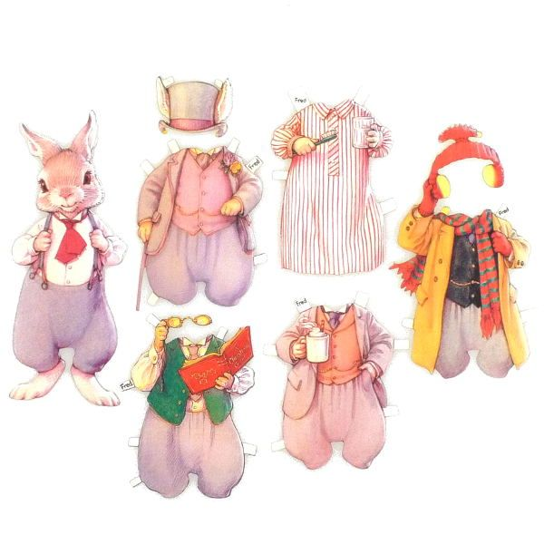 movable easter bunny paper doll 25 best ideas about paper dolls on paper doll 6940
