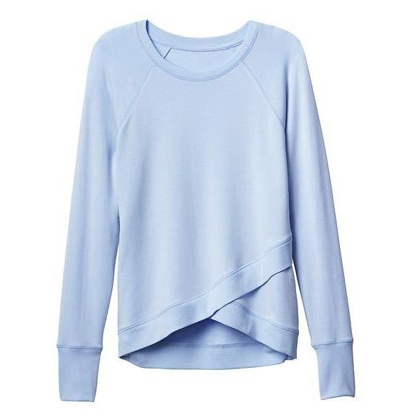 Criss Cross Sweatshirt | Athleta ❤ liked on Polyvore featuring tops, hoodies, sweatshirts, shirts, athleta, crisscross top, blue top, blue sweatshirt and criss cross top