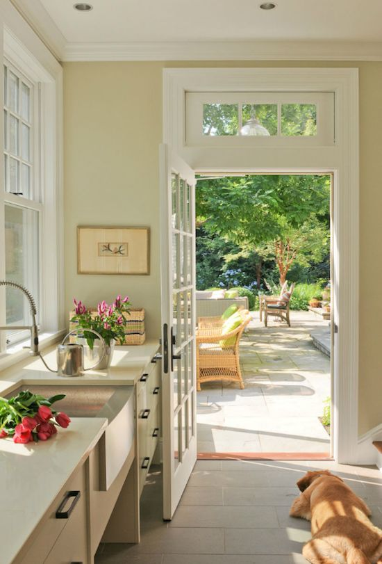 The Zhush: Obsession Du Jour: Jane Beiles Photography - would love a door from my kitchen to the yard.  Love!