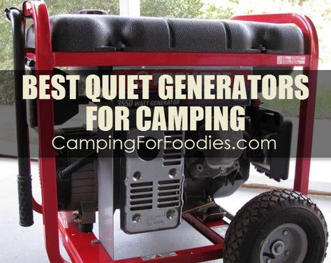 The Best Quiet Generators For Camping! Tent camping: small portable units. RV camping: greater power, quiet and efficient. Fit your personal camping needs! Here are considerations to help you determine the generator that best fits your camping needs.