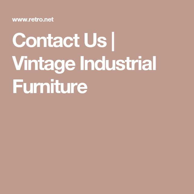 1000+ Ideas About Vintage Industrial Furniture On