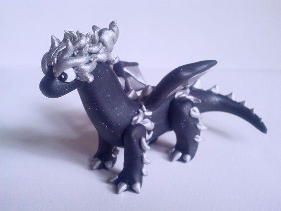 Polymer Clay Dragon Figurine  Cute Dragon by HannArtSculpture Polymer Clay Dragon Figurine , Cute Dragon Figurine , Cute Polymer Clay