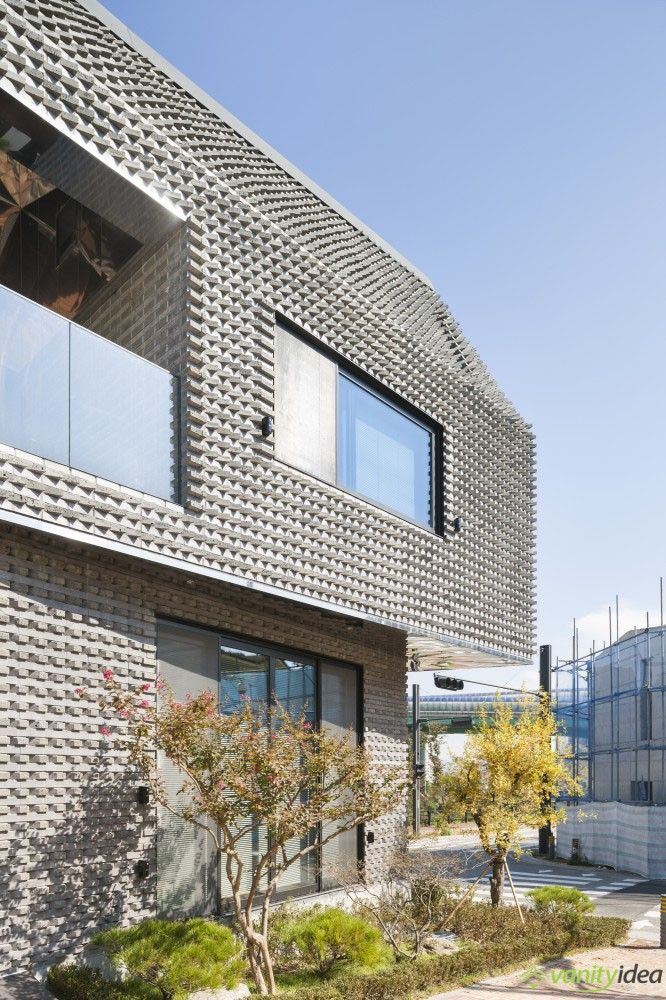 basalt-brick house design