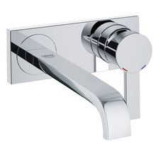 View the Grohe 19 387 Allure Wall Mounted Bathroom Faucet with SilkMove Technology at FaucetDirect.com.