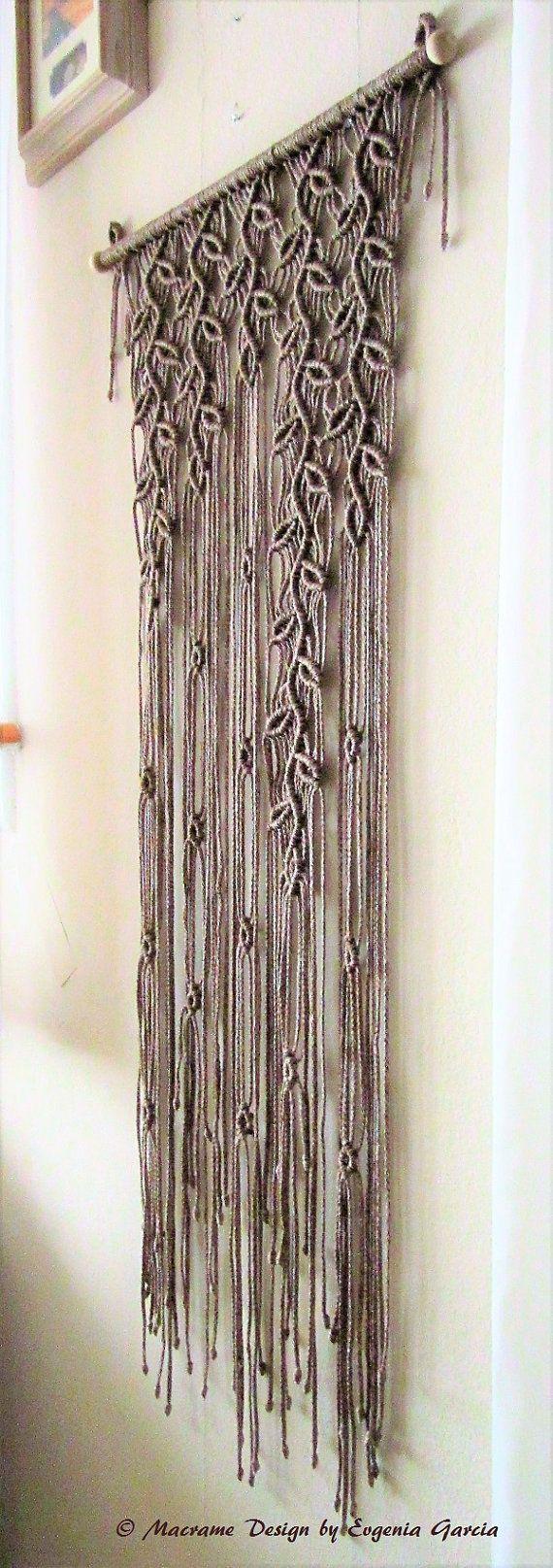 Macrame Wall Hanging Sprigs 5 Handmade Macrame Home door craft2joy