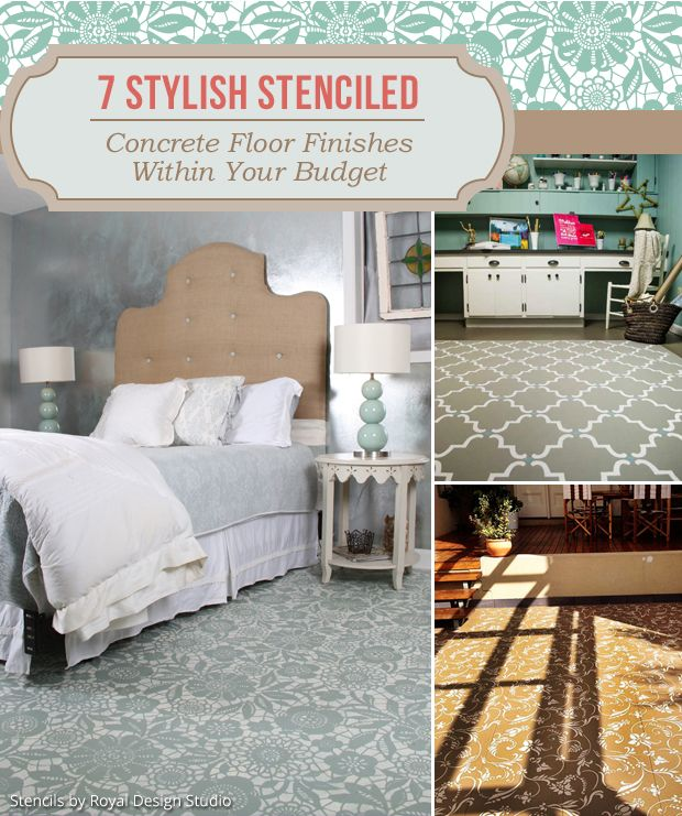 7 Stylish Painted & Stenciled Concrete Floor Finishes within Your Budget!