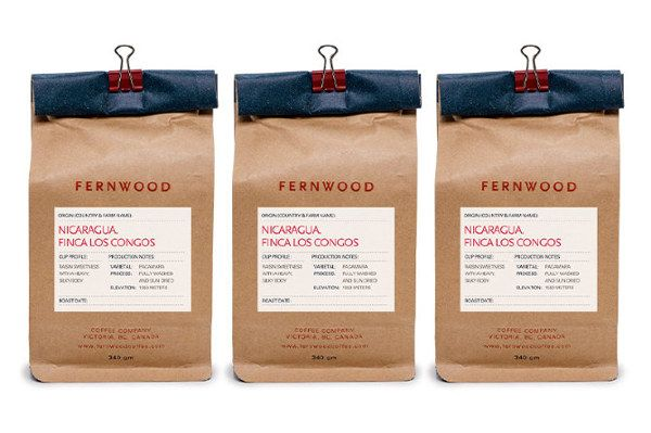 Fernwood Coffee on Packaging Design Served