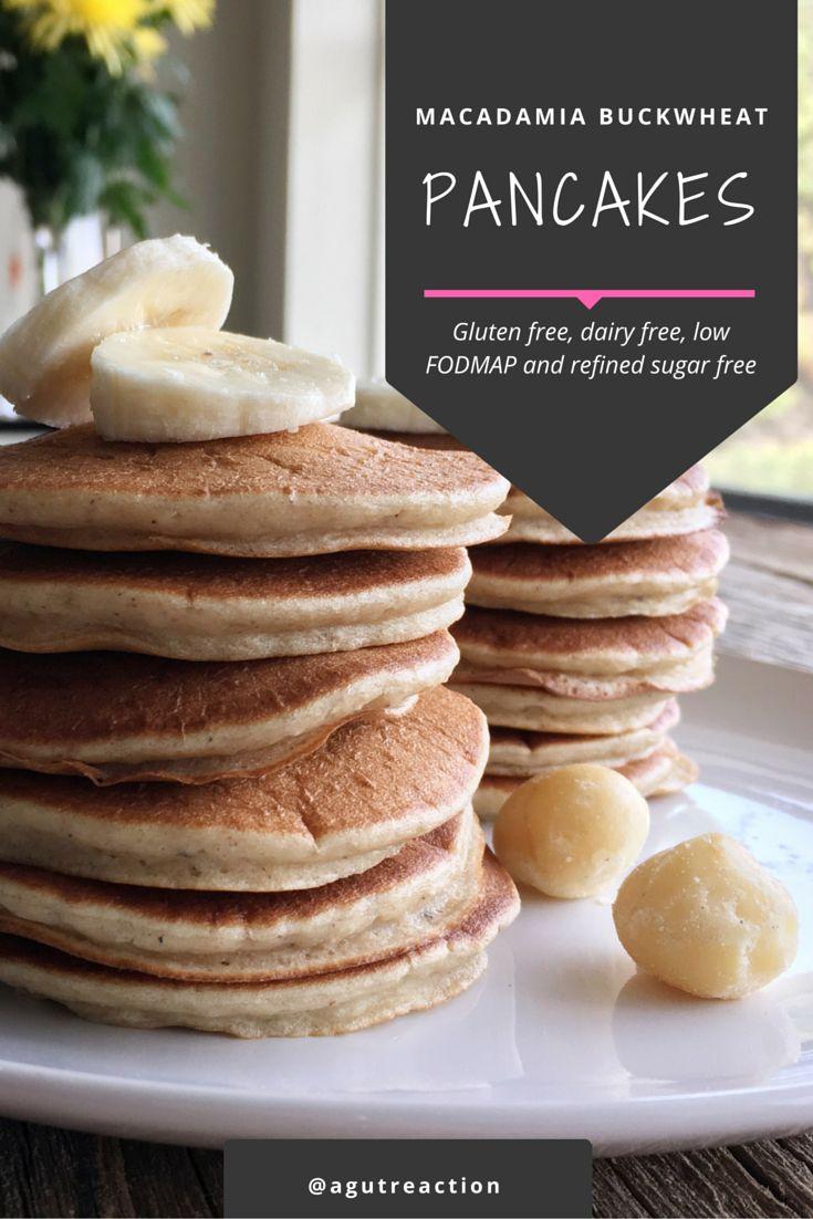 Macadamia Buckwheat Pancakes, gluten free, dairy free, refined sugar free and low FODMAP friendly!